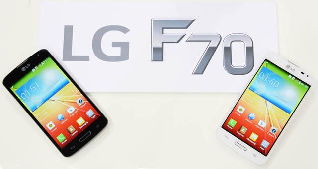 LTE 스마트폰 'F70' 제품 사진