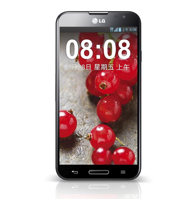 TD-LTE 방식의 5.5인치 대화면 스마트폰 'LG-E985T' 제품 사진