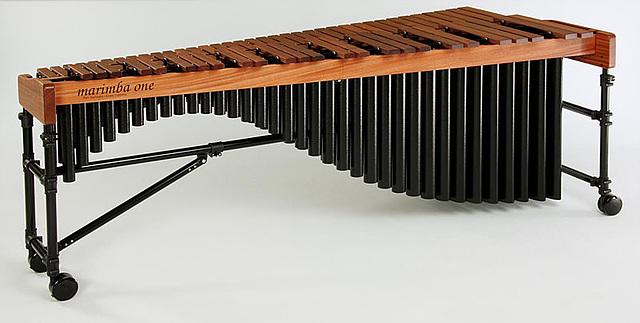 악기 마림바의 모습이다.