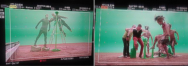 각자 촬영을 진행하고 있는 스태프와 모델의 모습이다