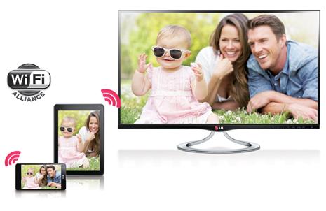 스마트 TV와 연동되는 휴대폰과 탭
