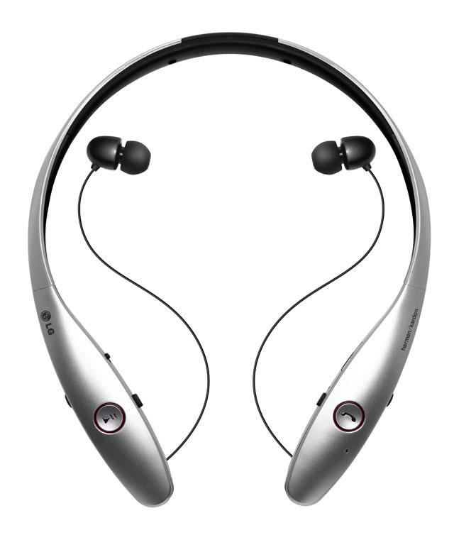 LG전자가 세계적인 오디오 기기 제조사 하만카돈과 공동 개발한 프리미엄 블루투스 스테레오 헤드셋 'LG 톤 플러스(LG Tone+)' 제품 이미지 입니다.