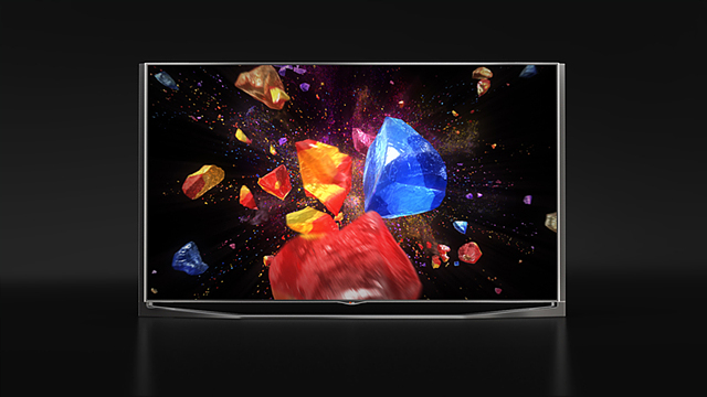 LG 울트라HD TV의 3D화질을 표현한 광고 이미지