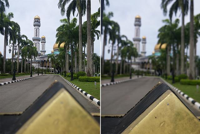 G3 아웃포커싱 기능으로 멀리 보이는 궁전의 모습을 촬영했다.