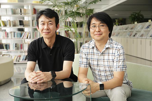 G워치 디자이너인  유현우 선임(좌)과 김동순 수석 디자이너(우)