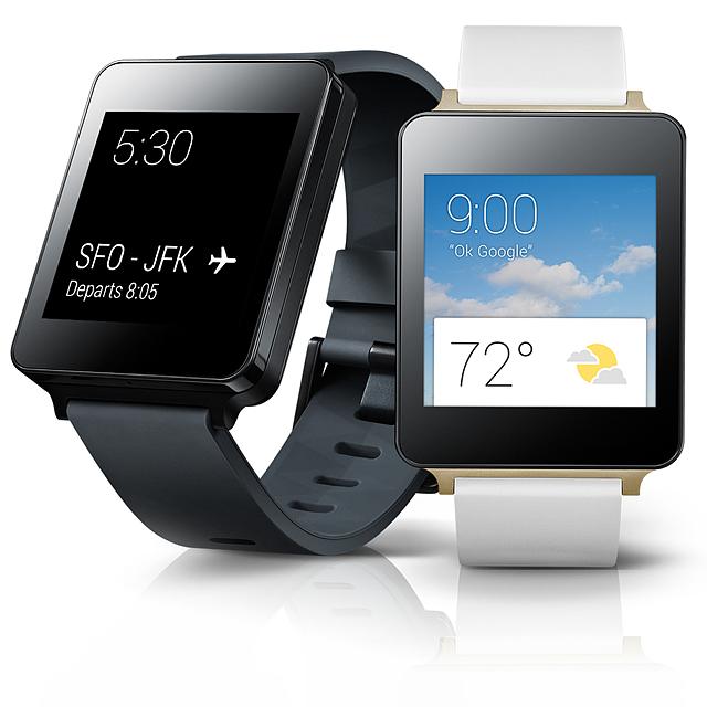 LG G워치 검은색과 흰색 모델 이미지