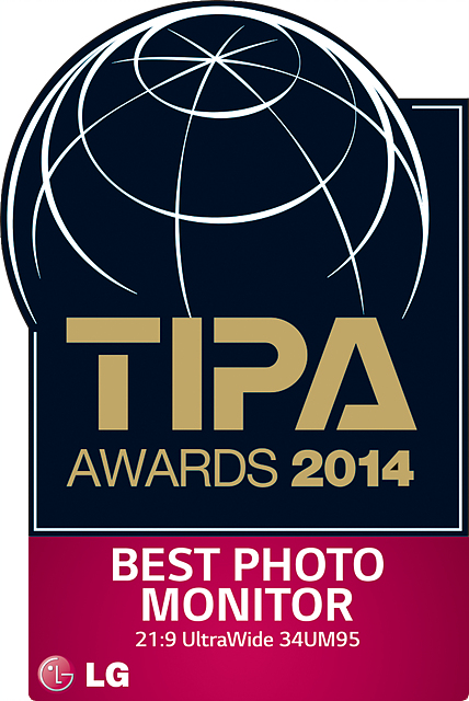 TIPA 어워드 로고. BEST PHOTO MONITOR로 LG 시네뷰가 선정됐다.
