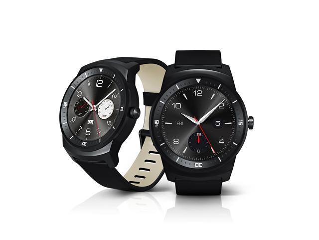 'LG G워치R' 제품 이미지. 클래식한 디자인이 눈에 띈다.