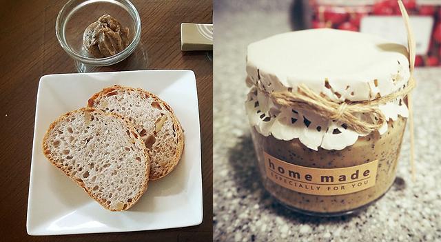 전찬훈 선임연구원의 여름보양식 '홈메이드 얼그레이 밀크잼'. 테이블 위에 놓여있는 밀크잼과 빵(좌). 병에 담겨있는 밀크잼(우)