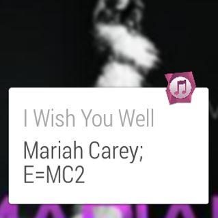 'EchoWear Song Search' 앱 화면. 머라이어 캐리의 'I wish You Well'문구가 보인다.