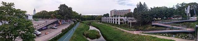 셀카봉+G3로 촬영한 파노라마 사진. 풍경이 보인다.