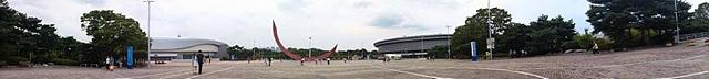 셀카봉+G3로 촬영한 파노라마 사진. 올림픽 공원 전경이 보인다.
