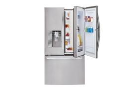 미국 바이어들로부터 최고 제품으로 선정된 LG전자 세탁기와 프렌치도어 냉장고 제품 이미지 입니다.