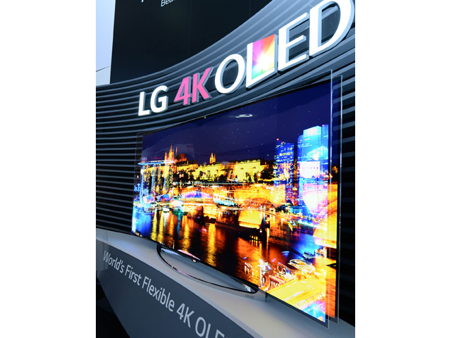 LG 가변형 올레드 TV 제품 이미지 입니다.