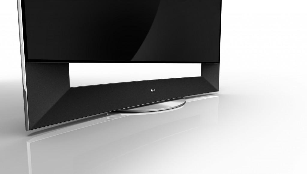 LG 곡면 울트라 HD TV전면 모습