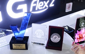 'LG G 플렉스2', CES 어워드 10관왕
