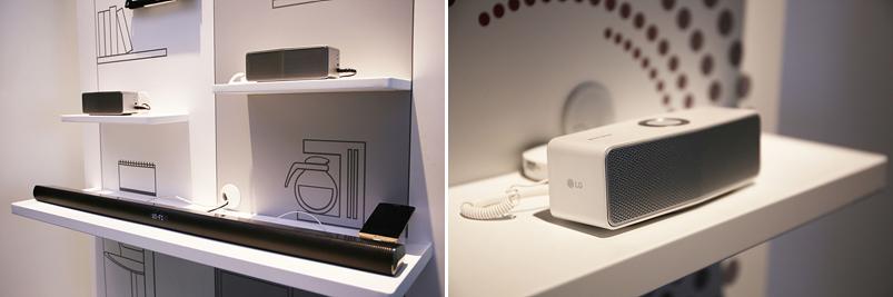 LG 스마트오디오가 전시되어 있는 모습