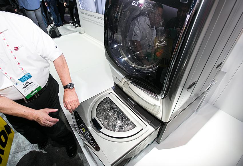 세계 최초 '트윈 세탁 시스템'이 적용된 세탁기