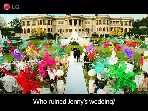 누가 제니의 결혼식을 망쳤을까? 결혼식장에서 풍선이 터지는 장면