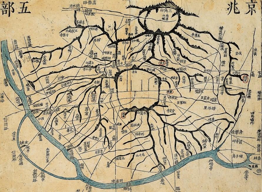 옛 조선의 수도 한양을 그린 지도
