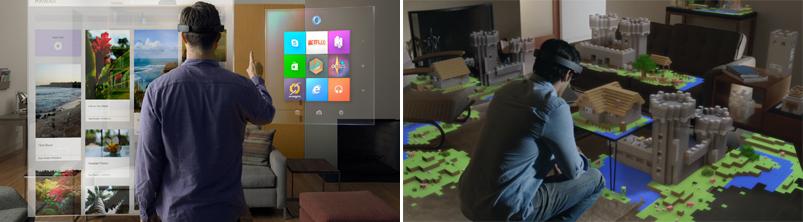 윈도우10의 홀로렌즈 사용 모습