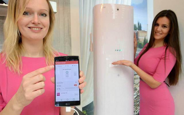LG유플러스의 '홈매니저' 앱을 설치하면 집 안의 에어컨 기능 컨트롤이 가능하다.