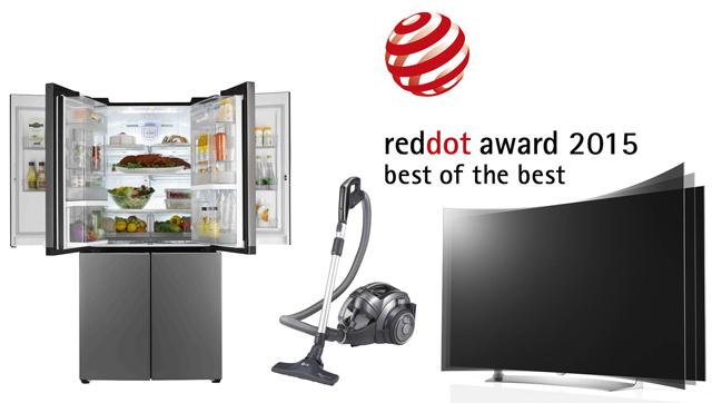 더블 매직스페이스' 냉장고, '코드제로 싸이킹' 청소기, '77형 가변형 올레드 TV' 제품 이미지 입니다.
