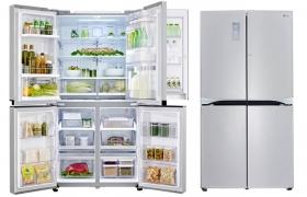매직스페이스 적용 냉장고 GMM916NSHV 제품 이미지 입니다.