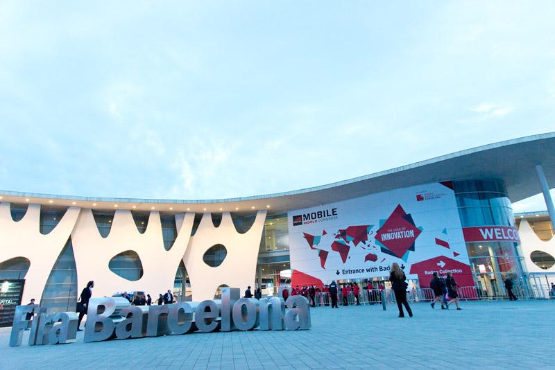 MWC 2015가 열리고 있는 바르셀로나 행사장 전경.