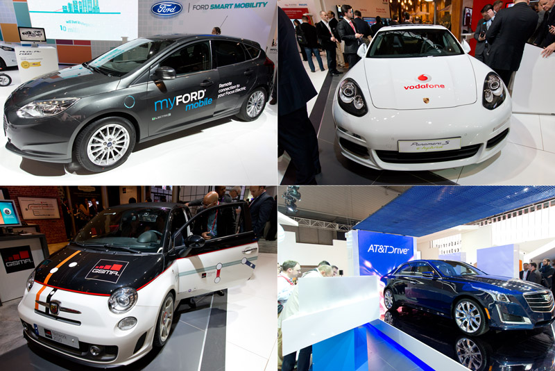 MWC 2015 현장에서 선보인 다양한 브랜드의 자동차.