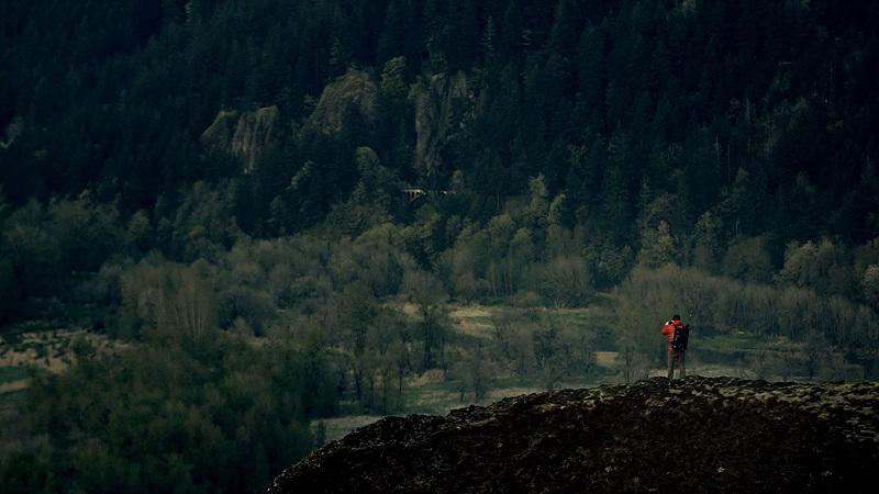 포틀랜드 근교, Corbett 콜벳의 모습. 넢은 숲이 한 눈에 내려다 보인다.