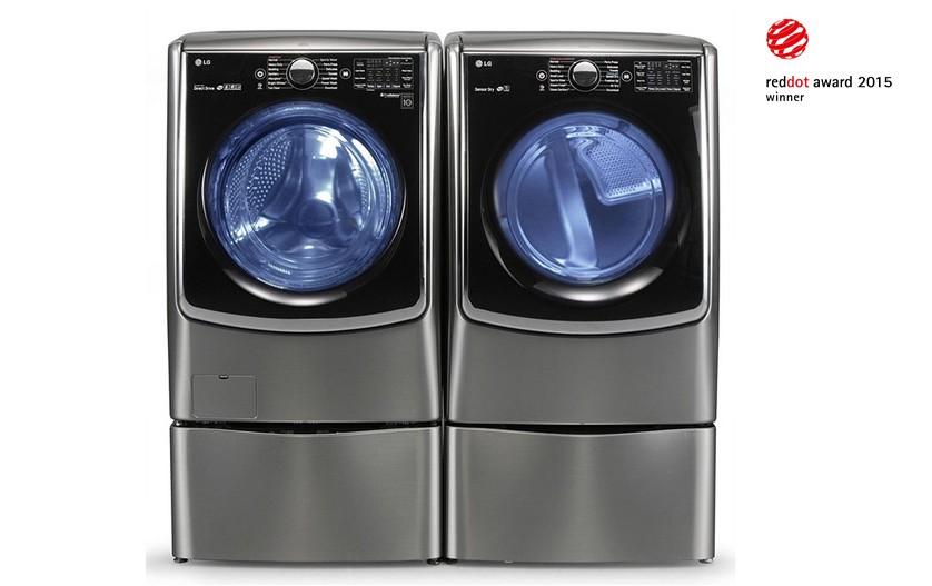 대용량 드럼세탁기 아래 별도 세탁이 가능한 소형 세탁기를 세계최초로 결합한 '트윈 워시' 세탁기