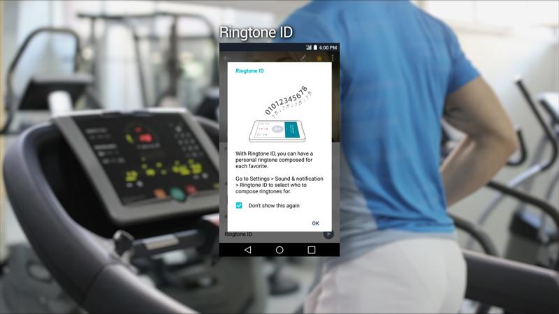 링톤 ID 기능을 통해 운동 중에도 벨소리를 통해 발신자가 누구인지 알 수 있다.
