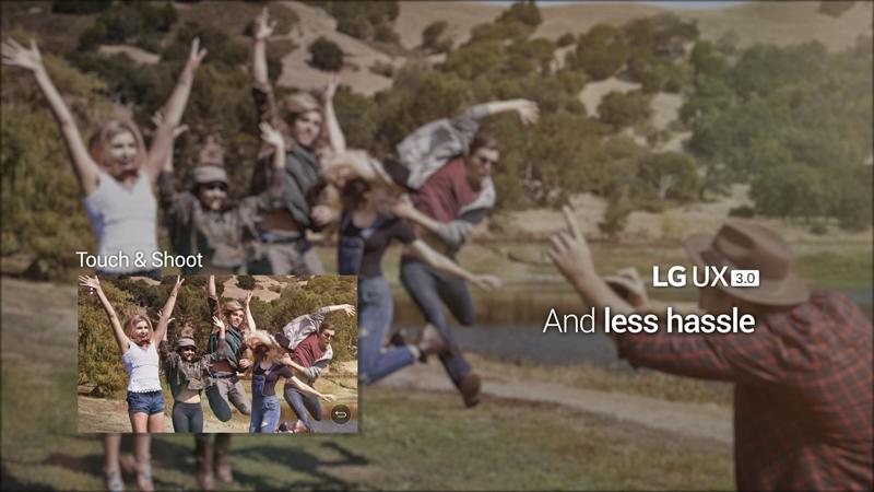 터치&슛 기능을 표현한 이미지. 점프를 하는 순간을 정확히 포착해 사진으로 남길 수 있다.