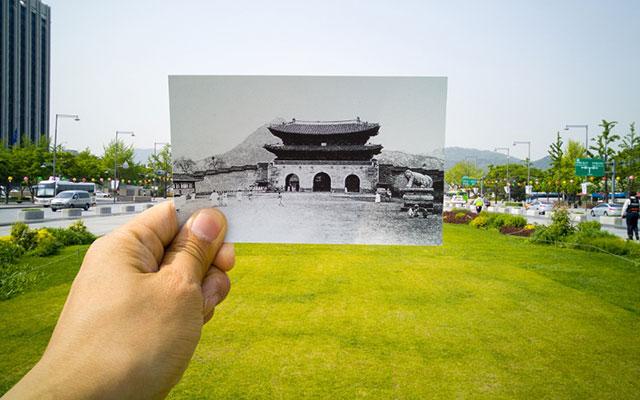G4로 촬영한 광화문의 과거와 현재