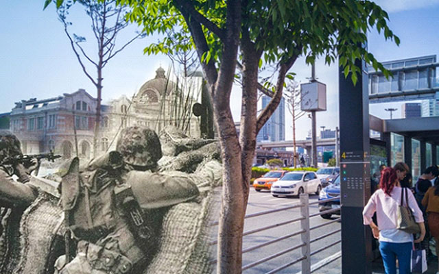 G4로 촬영한 서울역 과거와 현재