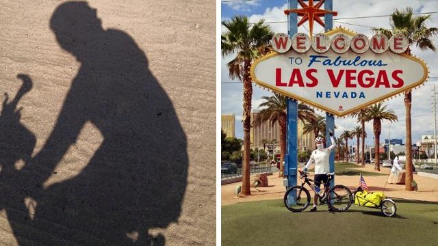 자전거 여행으로 라스베거스에 도착한 권재관