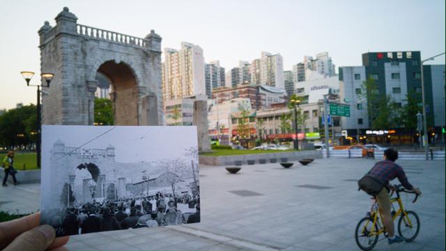 사진전문가 그룹 ZAKO의 손현철 사진가가 'G4' 스마트폰으로 촬영한 독립문의 과거와 현재 이미지