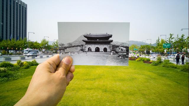 사진전문가 그룹 ZAKO의 나희돈 사진가가 'G4' 스마트폰으로 촬영한 광화문의 과거와 현재 이미지 입니다.