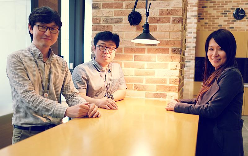 왼쪽부터 김의준 선임, 이상용 책임, 유경희 책임