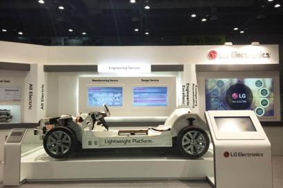 LG전자는 5월 3일부터 6일까지 일산 킨텍스서 열리는 'EVS'서 공개 부스를 마련해, 전기차 핵심부품과 전장부품, 차량용 엔지니어링 기술 등 차량용 핵심부품의 R&D 역량을 선보였다.