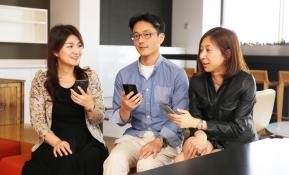 왼쪽부터 MC연구소 UI실 정혜미 선임연구원, 상품기획 과장, MC LTE상품기획담당 신윤진 대리