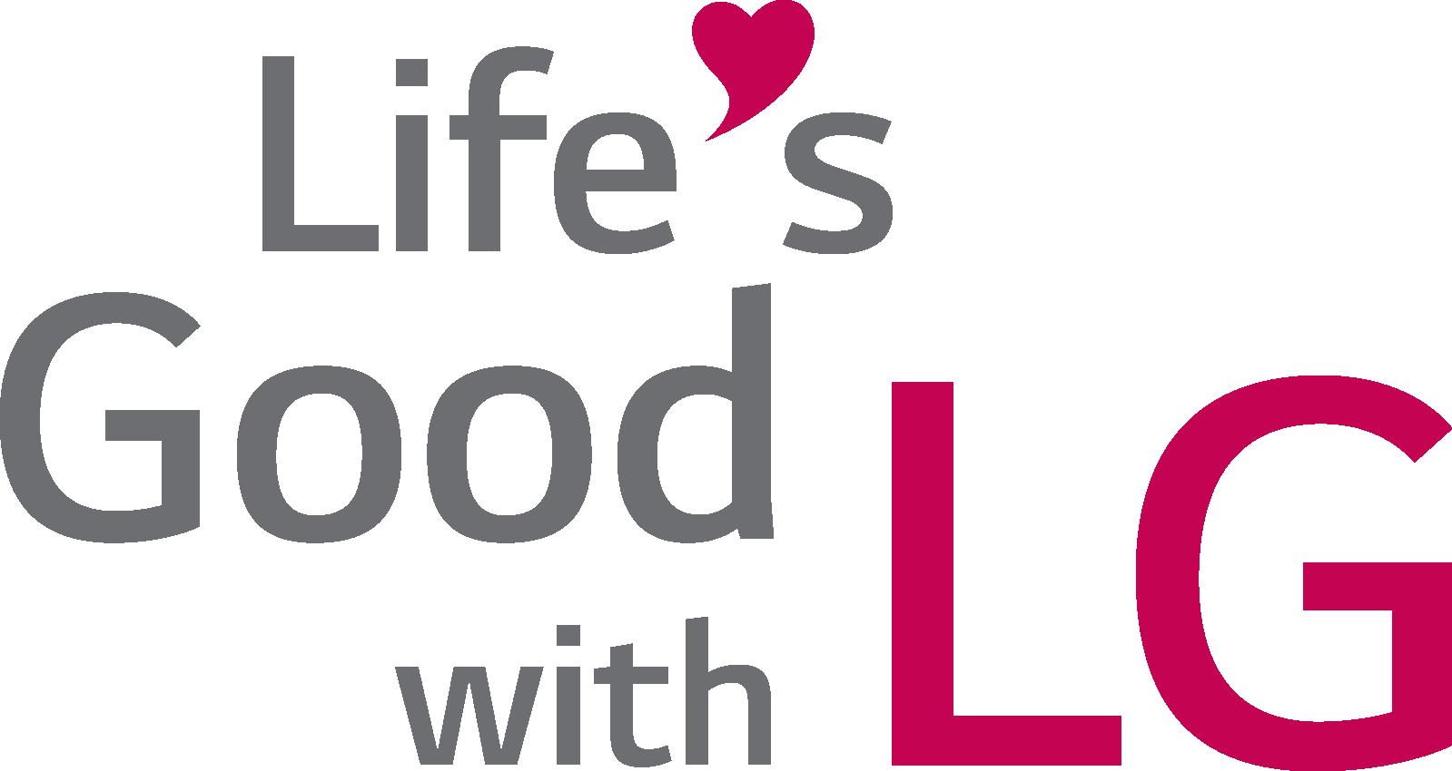 LG CSR 활동 슬로건인 'Life's good with LG' 문구가 보이는 LG CSR 로고 이미지
