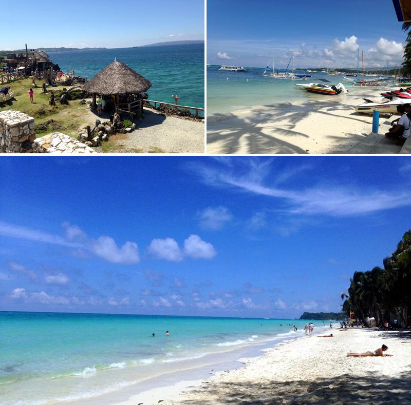 필리핀 보라카이의 바닷가 풍경