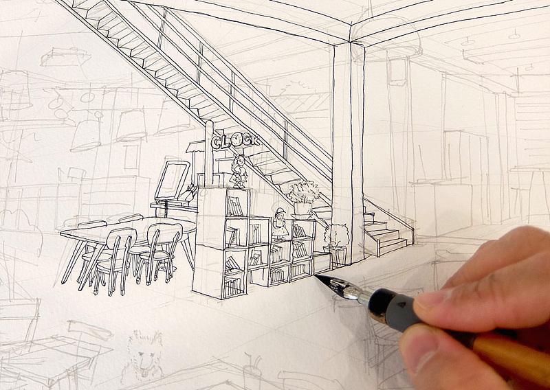 펜과 잉크를 사용해 그림 그리는 재미