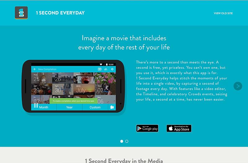 매일 1초의 동영상을 기록할 수 있는 앱 - 1second everyday