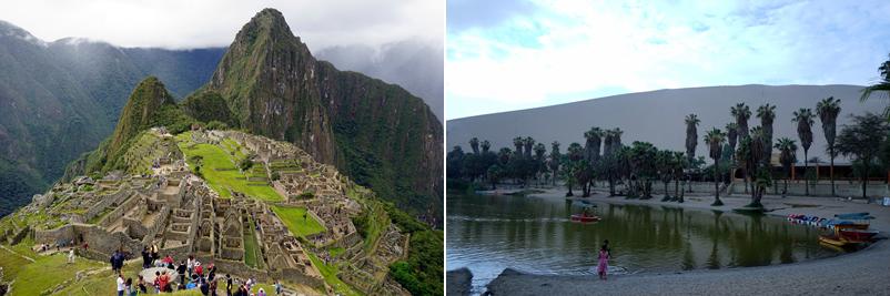페루의 고대도시와 한적한 오아시스