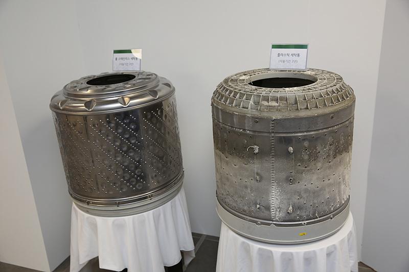 스테인리스 소재로 제작된 세탁통