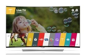 웹OS 2.0 탑재 65형 울트라 올레드 TV 제품 사진입니다.