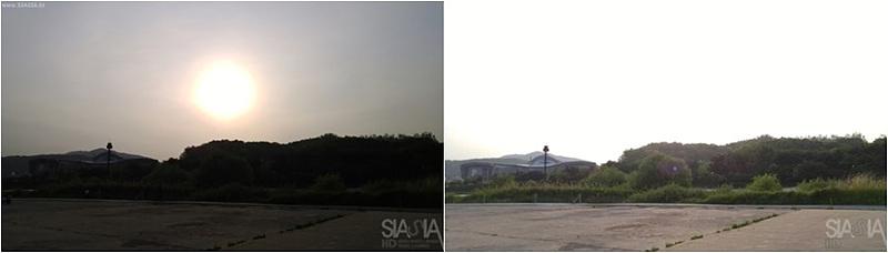 AE-L(노출고정) 전후 비교 사진